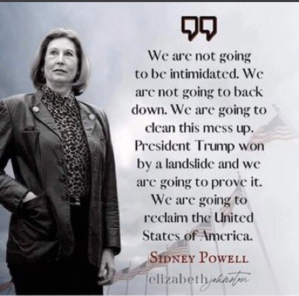 I thank God for sending Sidney Powell 💖🕊🇺🇸 https://t.co/pRCn8IlBOI