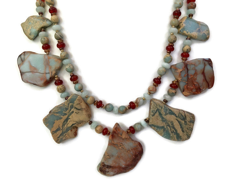 Sharing for Susan Ryan on Etsy  Really love this, from the Etsy shop SRyanJewelryDesigns. https://t.co/Ax3CU0r1VD #etsy #naturalstone #statementnecklace #jasperslabnecklace #bohemianjewelry #beadedjewelryset #africanopal #necklaceearrings #giftforher #stonenecklace https://t.co/k24CgvkxGY