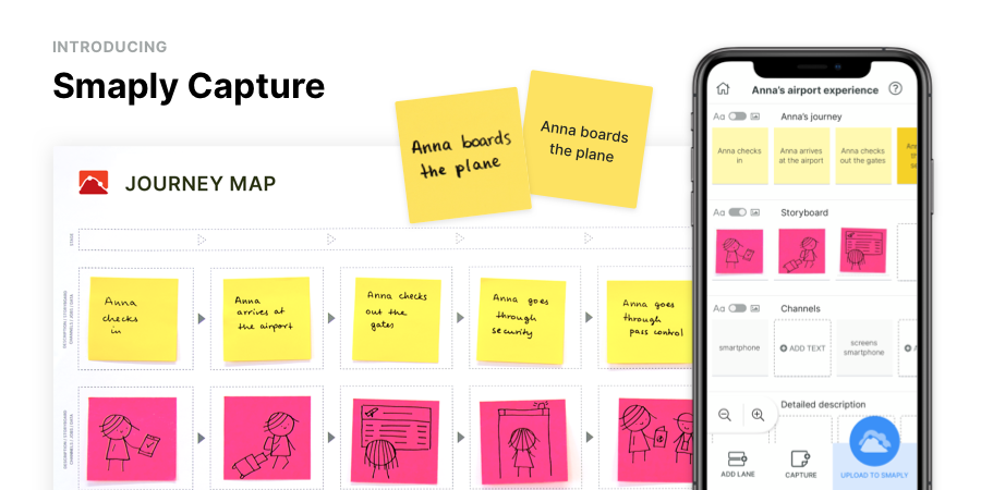 Welcome to a new era of #journeymapping – we proudly present Smaply Capture! 🎉 This new, groundbreaking tool lets you digitize pen and paper journey maps by merely taking a picture – powerful AI takes care of the rest. Learn more about Smaply Capture on https://t.co/BzdpKxYCnw https://t.co/3KIapuLea8