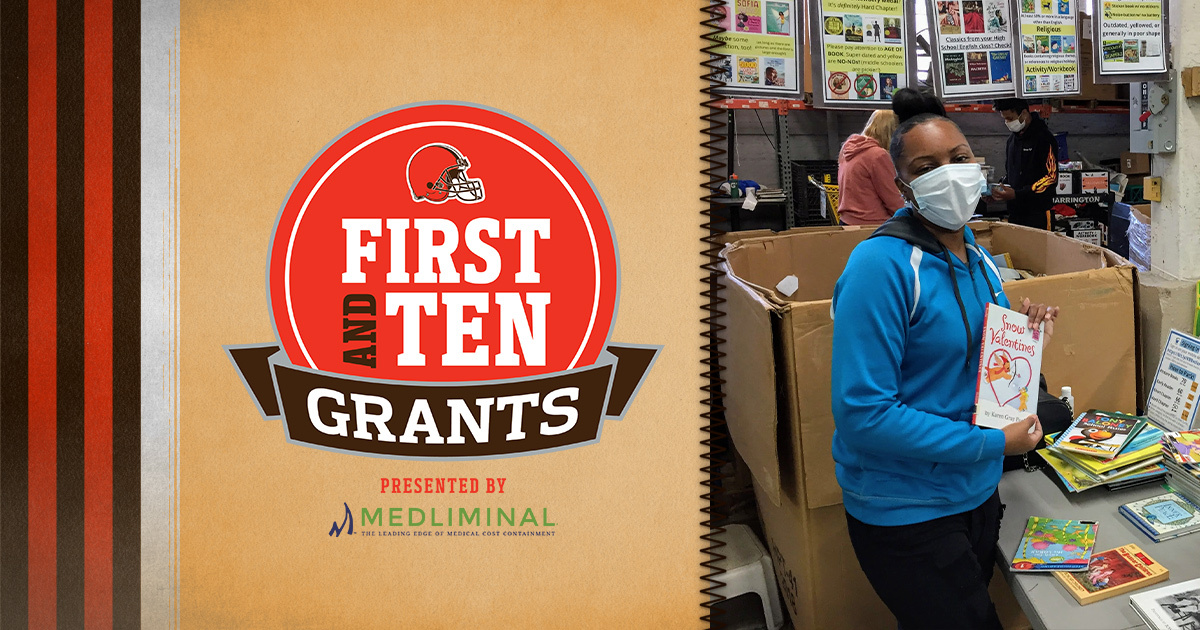 We are thrilled to be a recipient of this grant. Thank you @Browns for all you do for the community! #give10