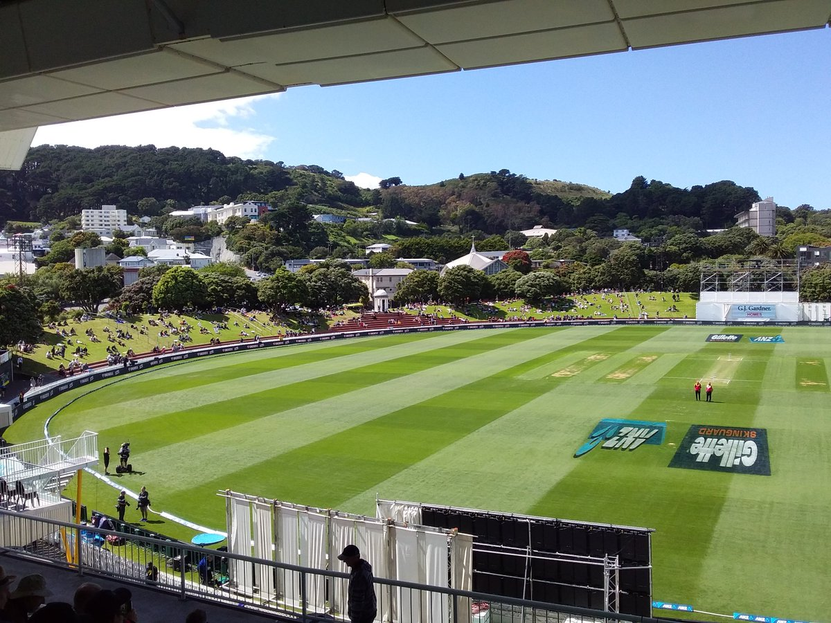 Ready for day two at the Basin Reserve