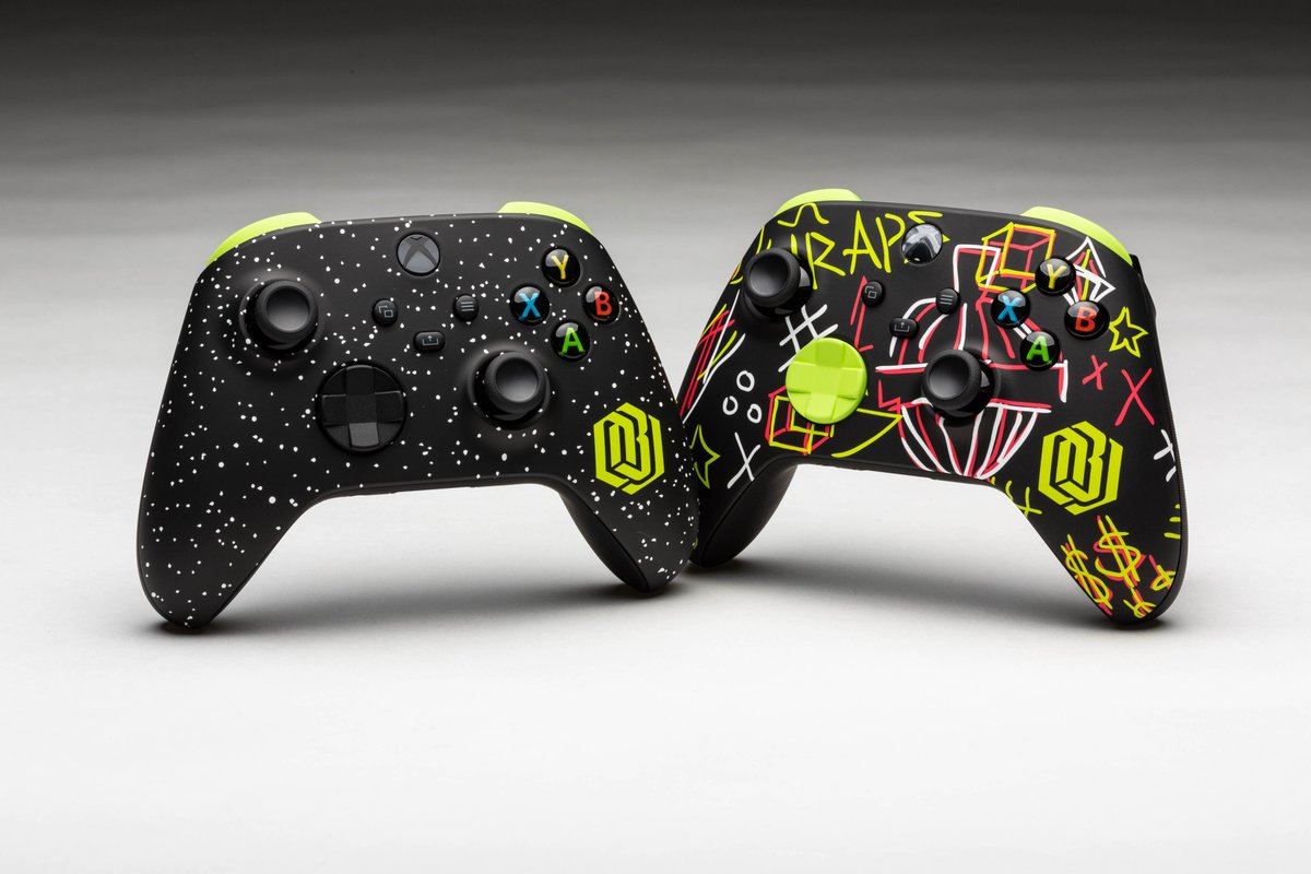 Follow @Xbox and RT this with #XboxDreamsweepstakes for a chance to win a totally custom cosmic pair of @Nike #AF1 shoes and controllers. Both were designed after @obj played Xbox and dreamed big.  Ends 12/18/20. Rules: