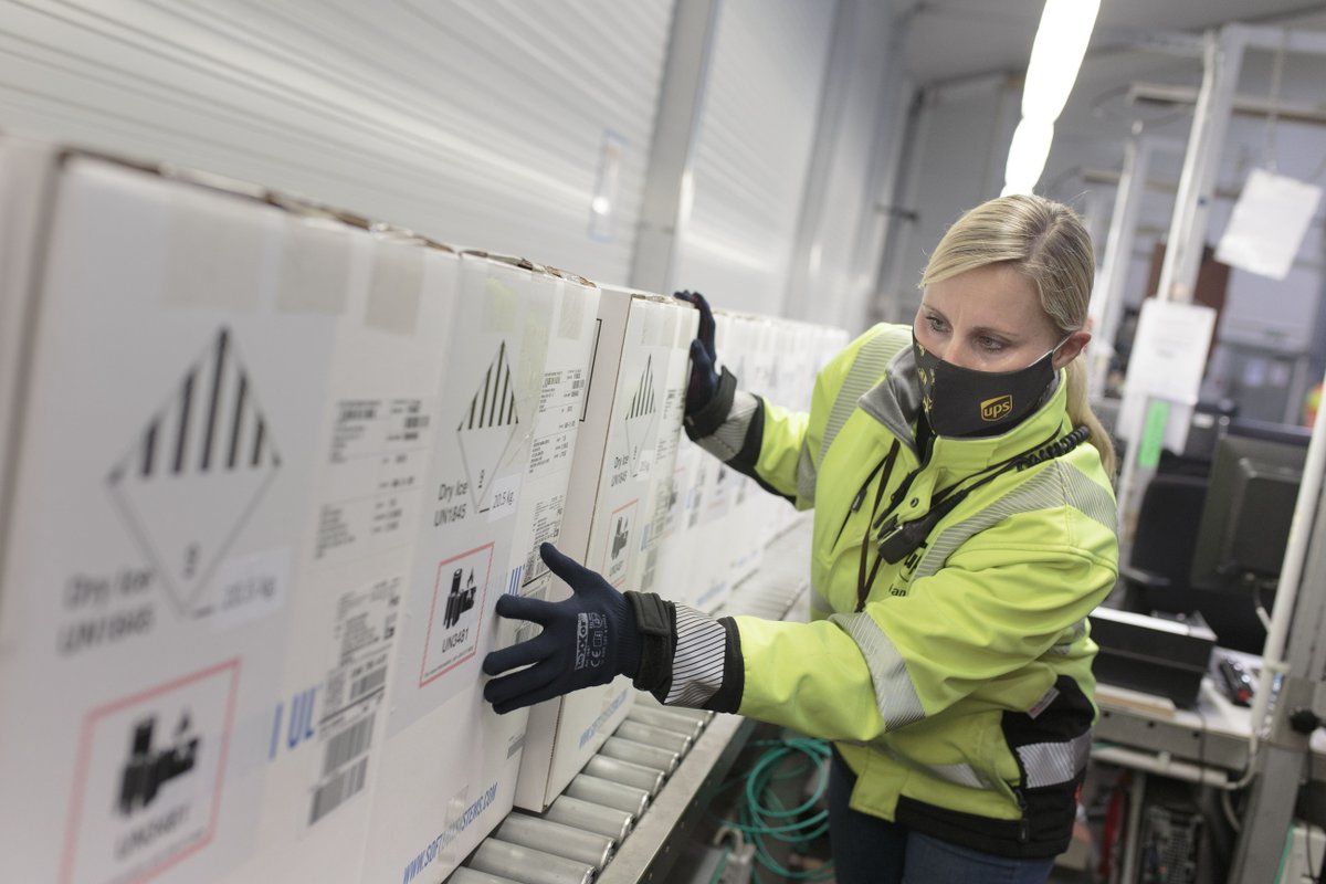 1st images of the Pfizer vaccine being processed in Cologne, Germany for delivery to select sites in Canada next week. We are ready to make one of the most important deliveries in our 45 year history in Canada.  #DeliverWhatMatters