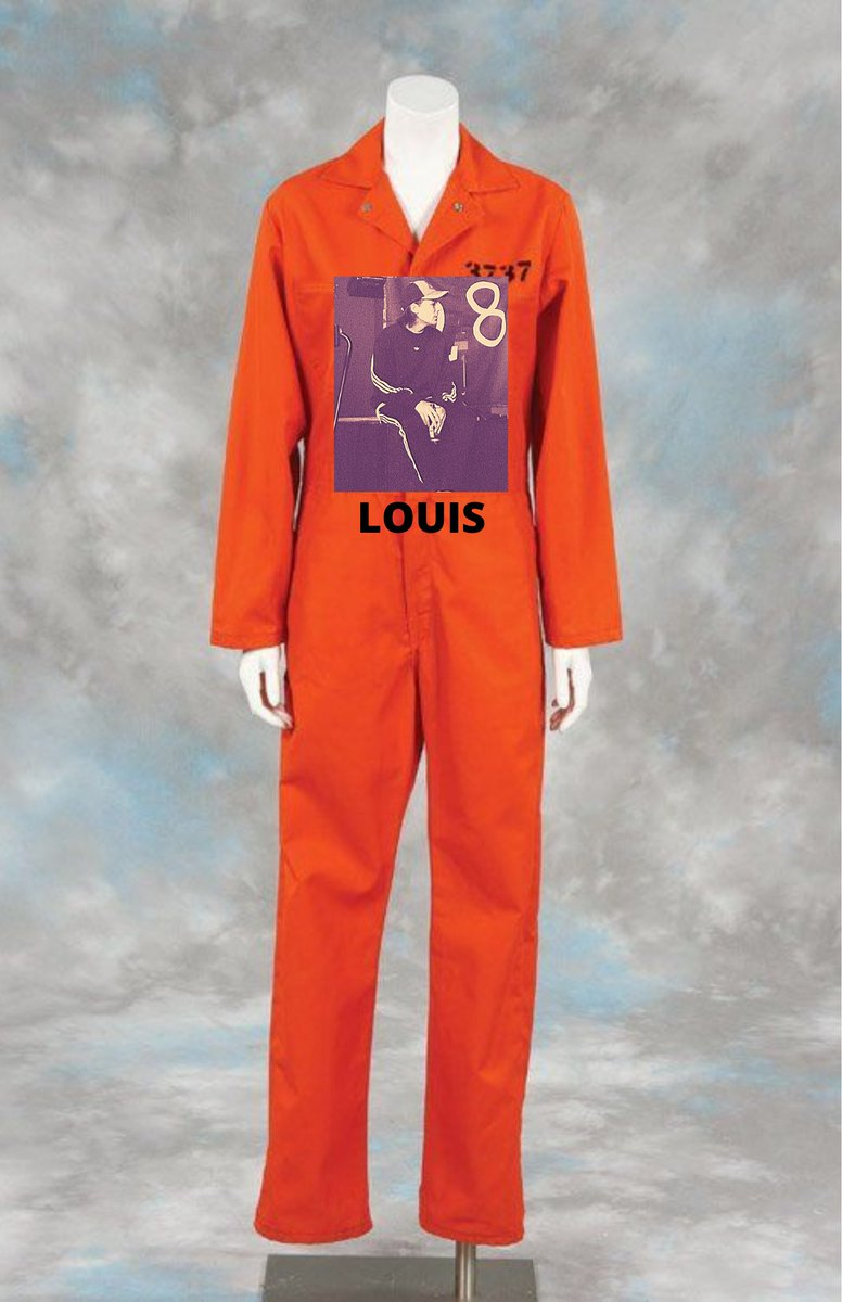 if harry's merch team designed the louies new uniforms: #LouisLivefromLondon  #louiesgoingtojailparty #Louislivestream
