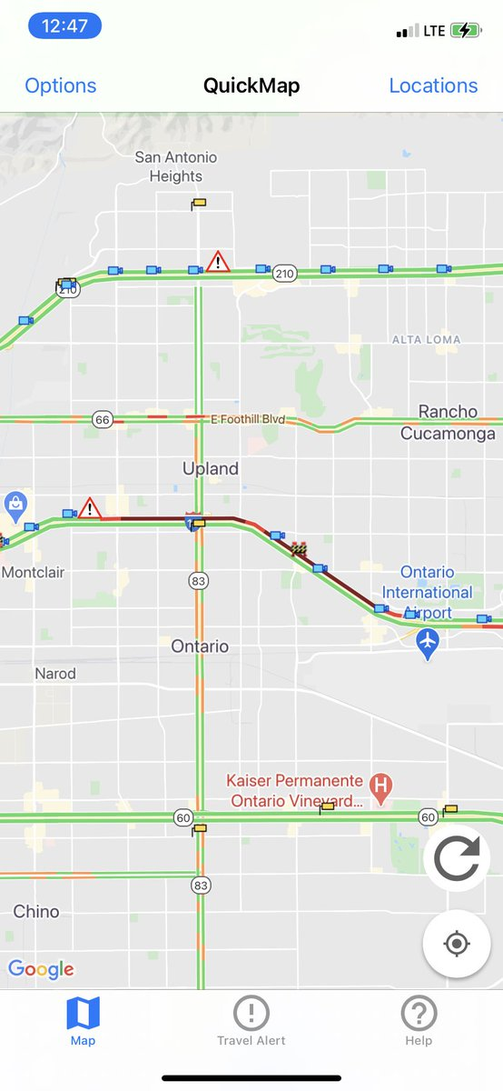Image posted in Tweet made by Caltrans District 8 on December 4, 2020, 8:48 pm UTC