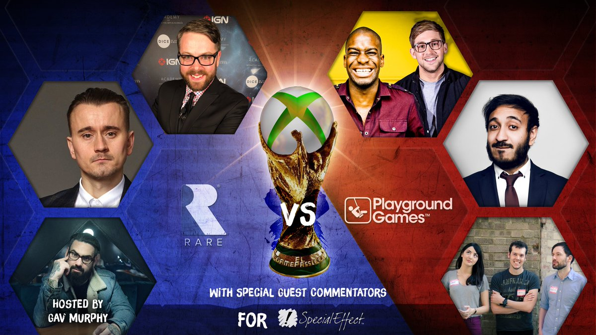 "El Gamepassico is go!  On 10th December at 8pm GMT @RareLtd and @WeArePlayground face off in FIFA for the title of ""@xboxuk Virtual Football Champions""  Join @cymrogav and guest commentators to watch the games & raise money for the amazing @SpecialEffect!"