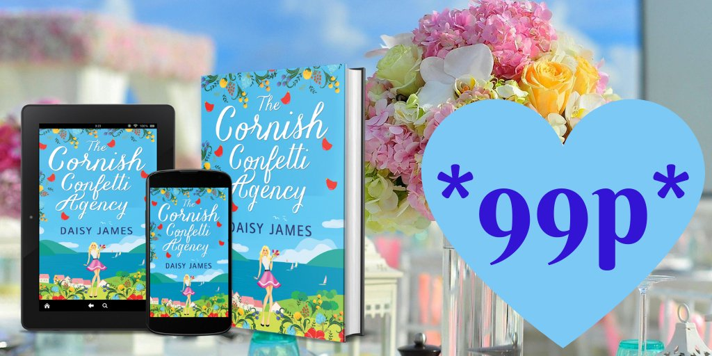 *Last day at 99p!* Why not grab a cosy, uplifting read set in sunny Cornwall? #onoffer #99p *Free on #KindleUnlimited* #amreading #happybooks #choosekindness #FridayFeeling #FridayFun