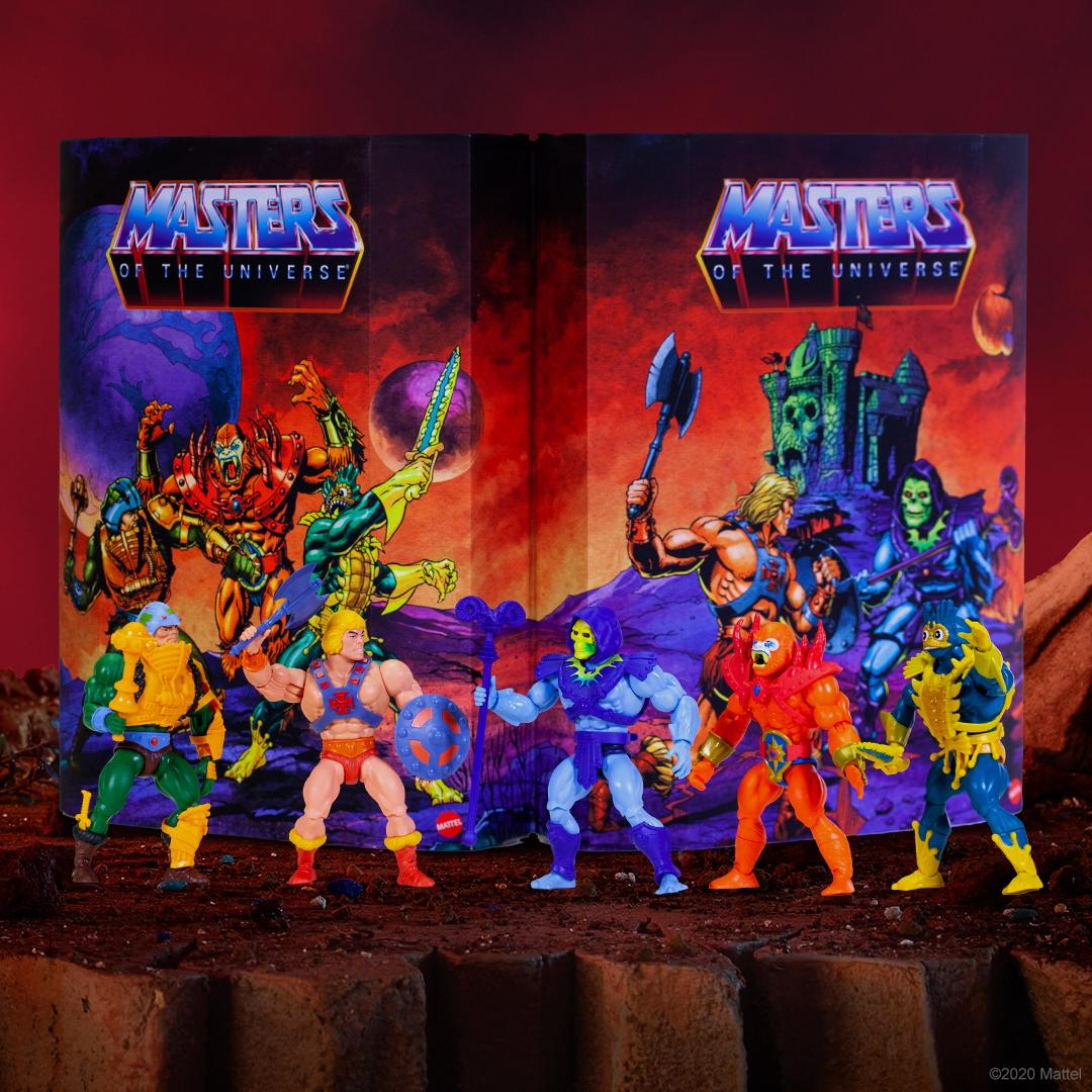It's like looking into a MOTU mirror…almost. This exclusive Lords of Power 5-pack recreates the prototype sculpts of the #MOTU heroes and villains we know and love today.
