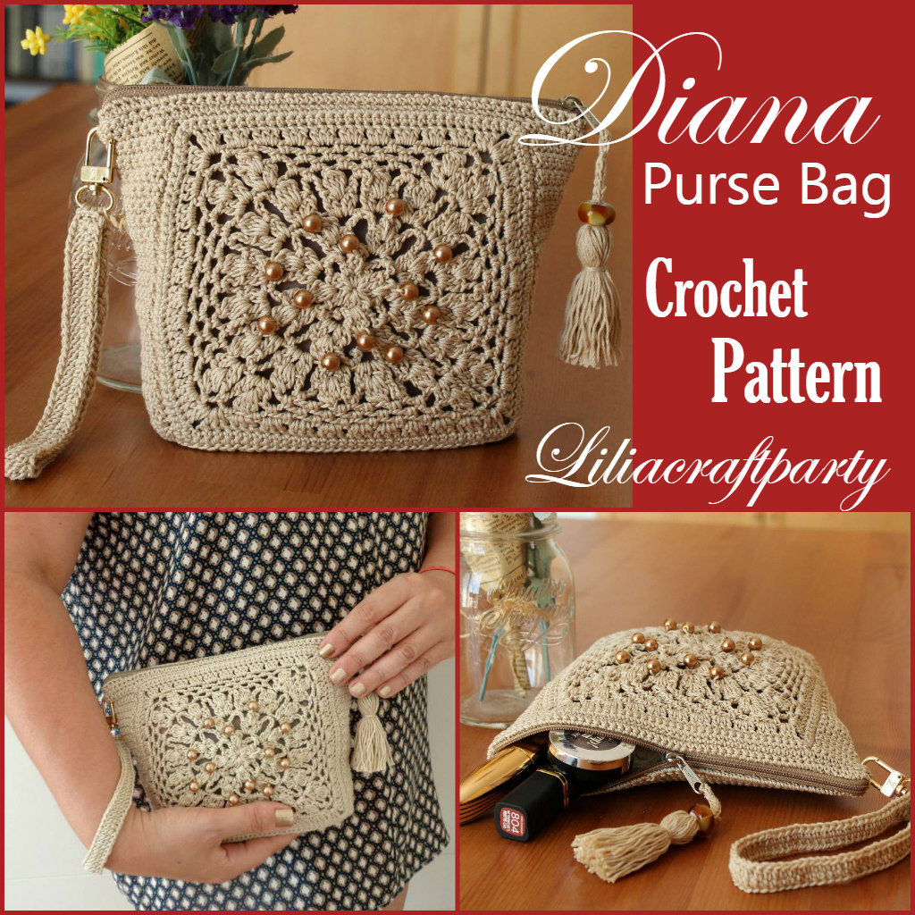 Diana Purse is just lovely crochet beaded bag pattern to make for this Holidays! Pattern with 20% off right now on my etsy  #gifts #purse #etsyshop #etsyfinds #EtsySocial #fridaymorning