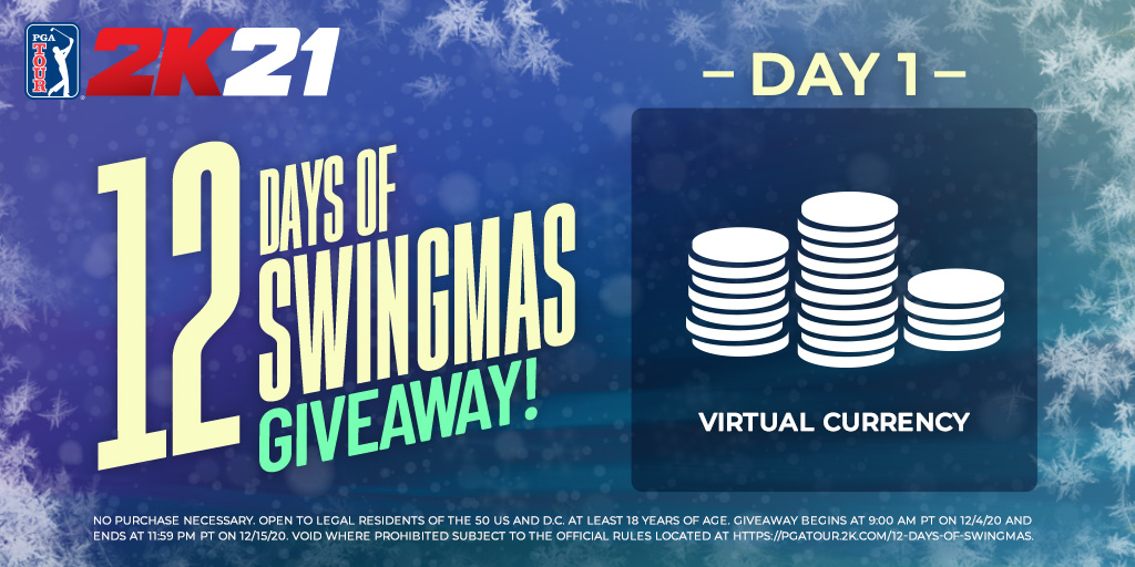 Tees the season to be jolly!! 🎅     Let's kick-off 12 Days of Swingmas right with a chance to win 6,000 Virtual Currency!    RETWEET with #12DaysOfSwingmas & #giveaway & make sure you FOLLOW @PGATOUR2K to enter.     *Codes only for Xbox/PS/NSW  Rules: