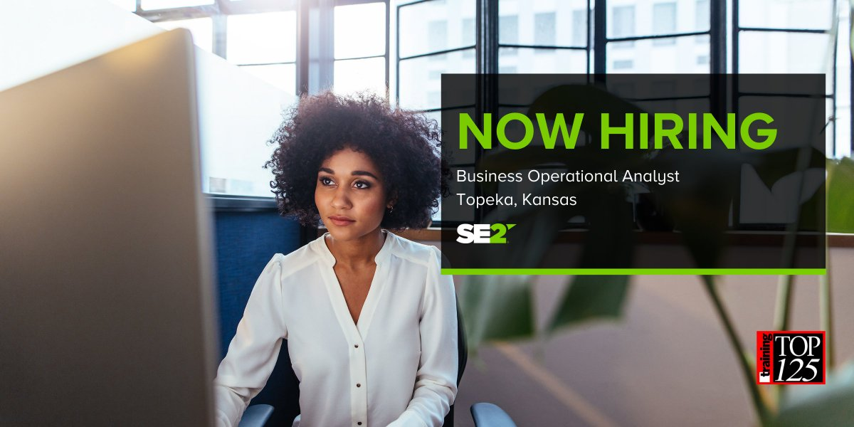 We're hiring! Do you have operations and financial experience, excellent communication skills and a flexible work schedule? Join us as a Business Operational Analyst in Topeka, Kansas. Check out the full job description: #SE2 #Hiring #Recruiting https://t.co/AWrDnOE6Ad