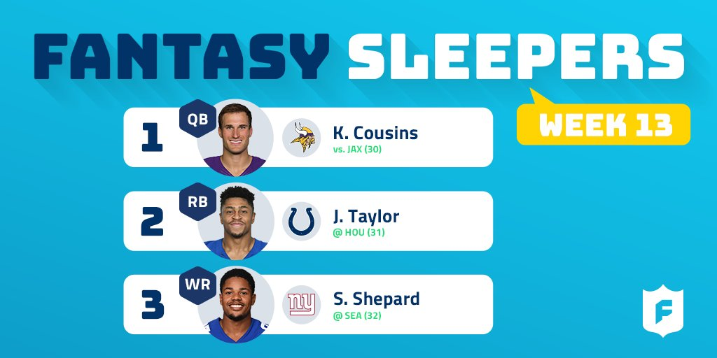 Check out @MichaelFFlorio's sleepers for Week 13!   Read the rest of the list: