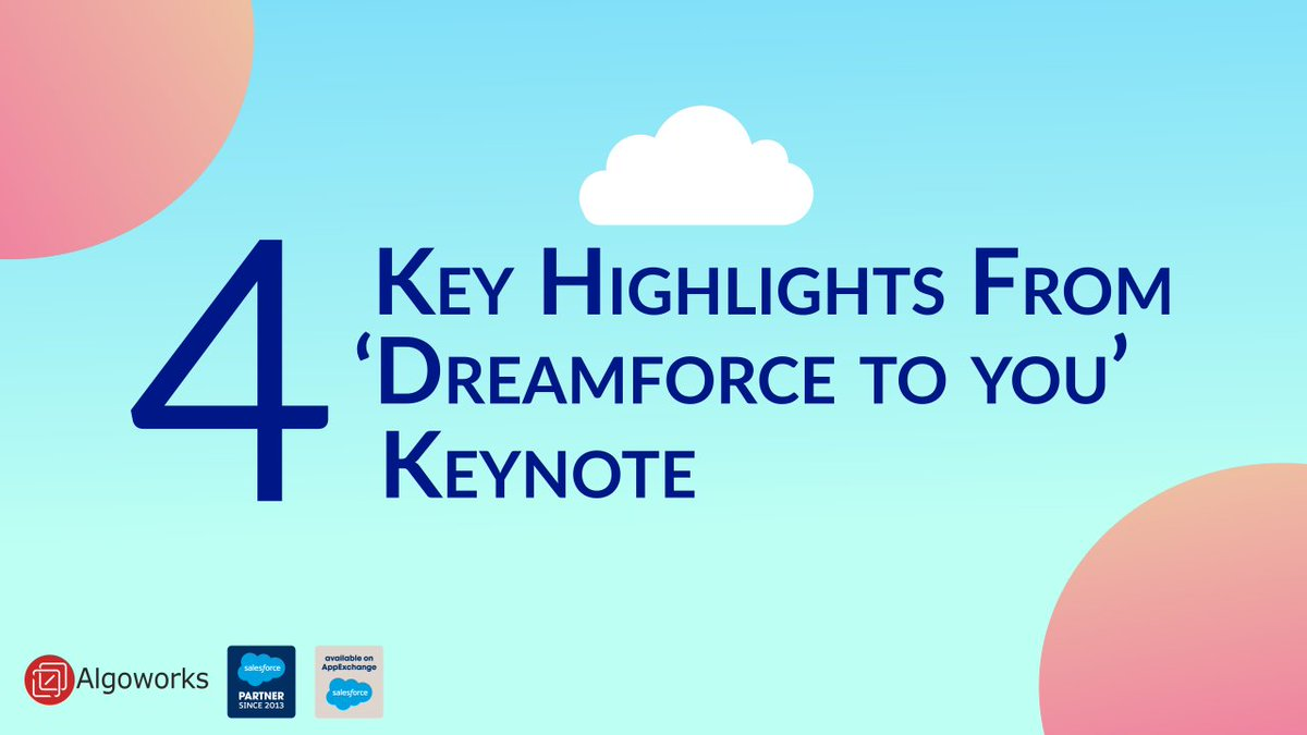 Let's straightaway take a jump on the announcements – from #Hyperforce, #EinsteinAutomate, Service Cloud Workforce, and huge acquisitions – presenting you a summary of what happened at the #Dreamforce keynote. #Keynote #DF2U #Slack #Salesforce #DF2020