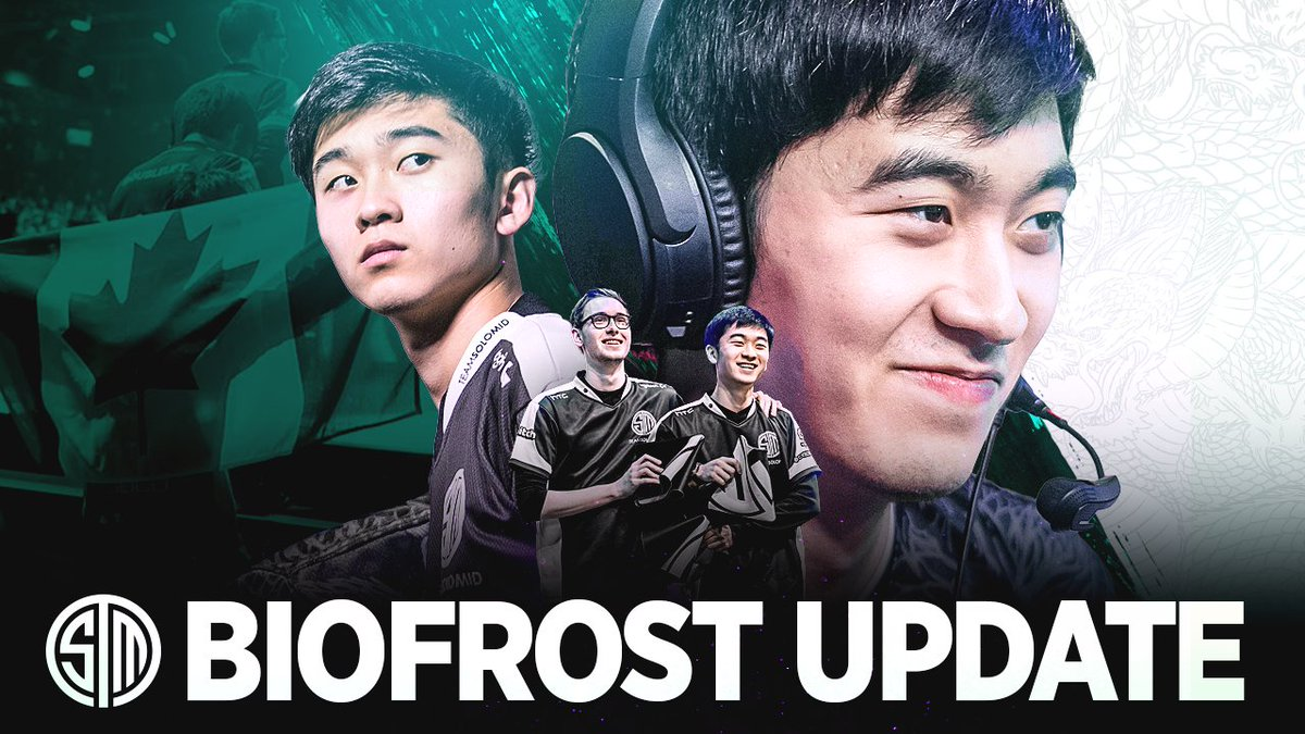 Xaryu - An update from @Biofrostlol   Thank you for everything you gave #TSM and good luck with your next challenge, we know you'll smash it 🤍