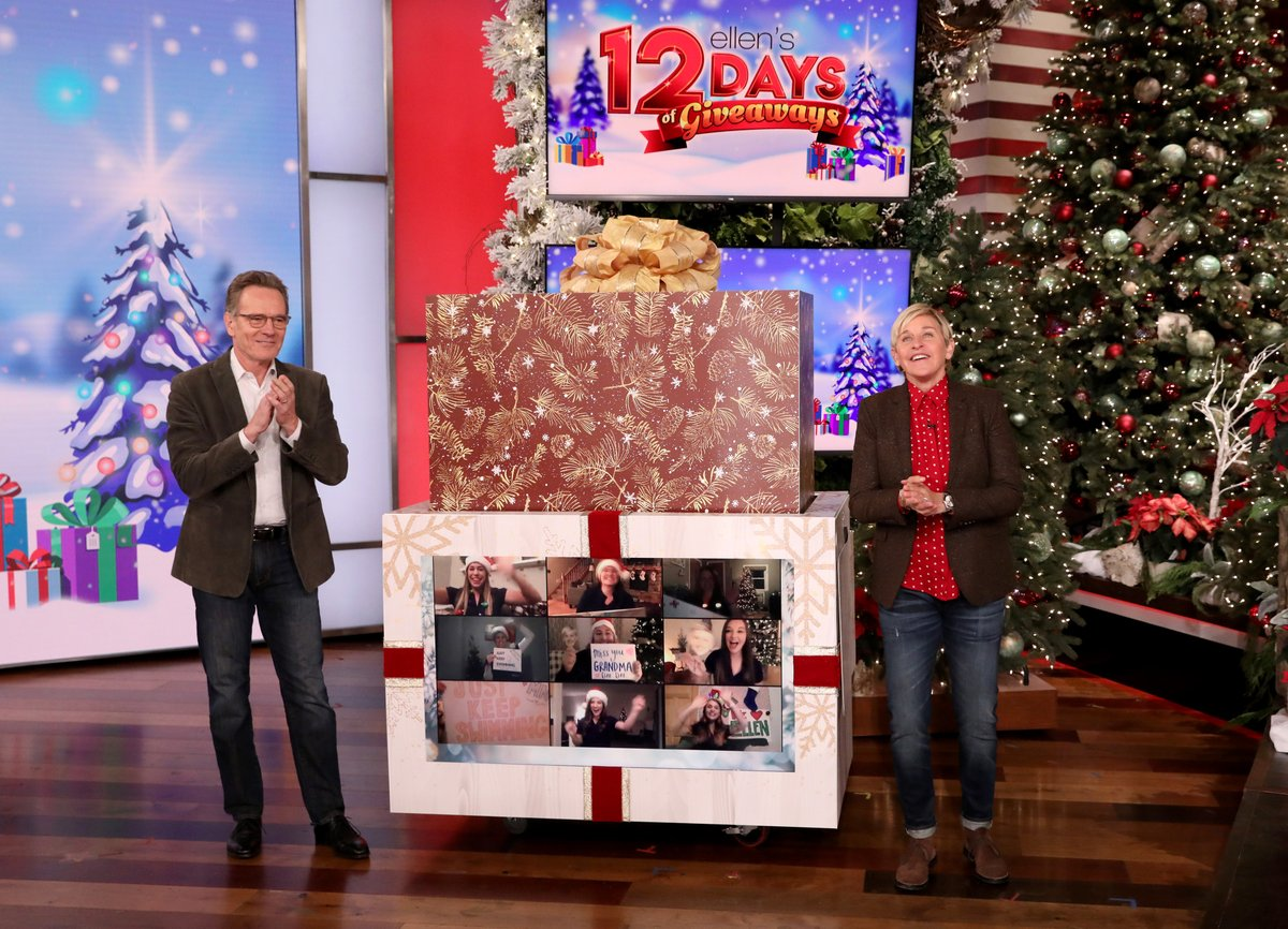 Happy Day 8 of my #12DaysOfGiveaways! Thanks for your help today, @BryanCranston.