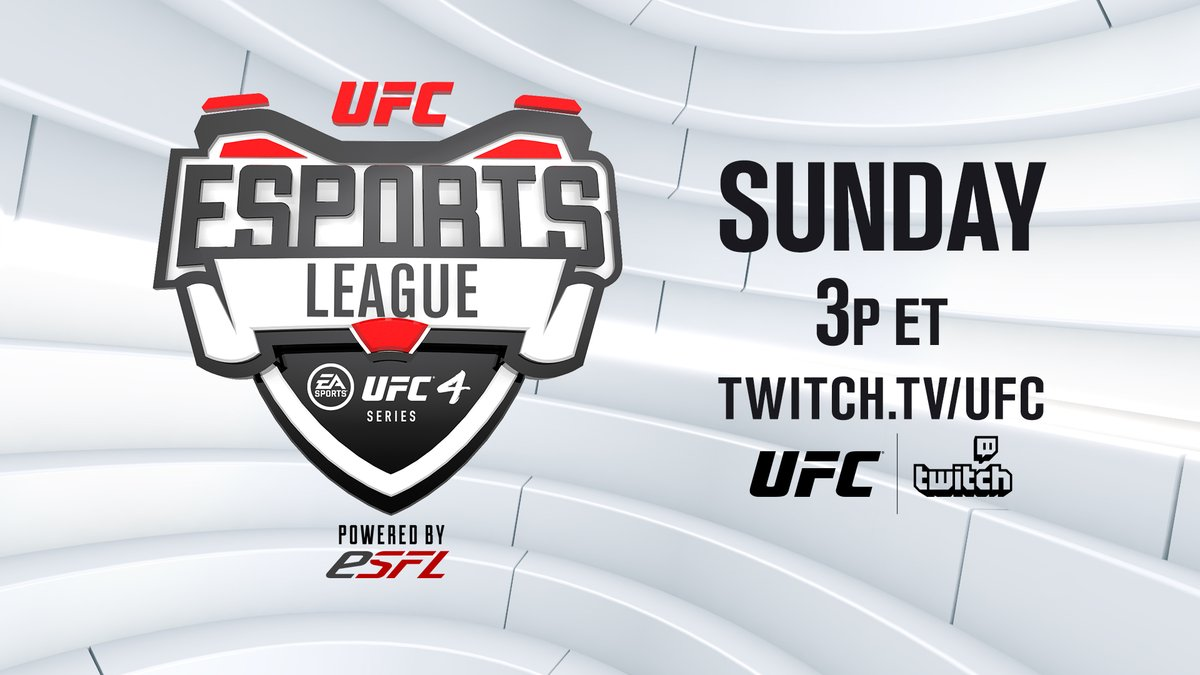 Will PapaDoc remain the #UFC4 champ?  Join us as our eSports league continues this weekend! 🎮  [ @ESFLGaming | @EASportsUFC | 3pm ET 👉  ]