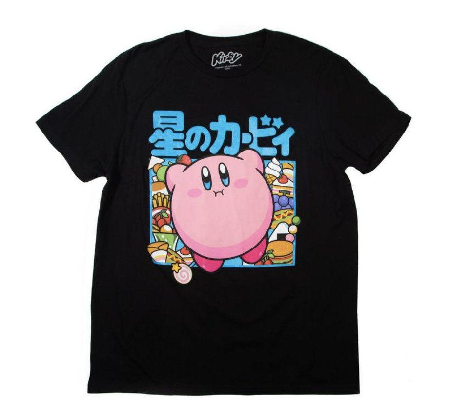 Today only: The Kirby Food Kanji T-Shirt is on sale for $9 at GameStop. 2