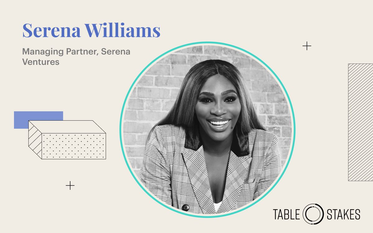 Athlete, entrepreneur, investor and fashion designer @serenawilliams has inspired us at every step of her career. Join us at Table Stakes to hear her share insights from starting her own fund, Serena Ventures, and investing in companies like @DlyHarvest, @billiebody, and @tonal