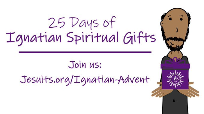 This #advent @JesuitJustice will be sharing daily #Ignatian spiritual gifts from #Jesuit collaborators. Think of them as Ignatian stocking stuffers! Learn more here:   .