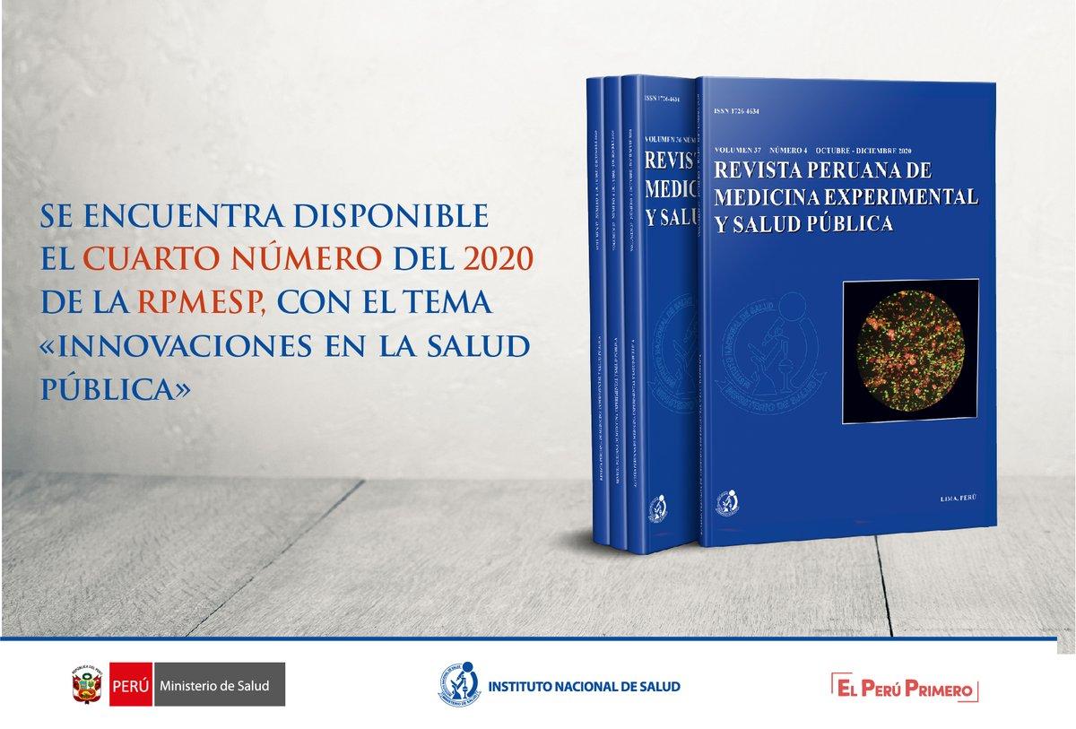 Rpmesp On Twitter Nuevo Numero De La Revista Peruana De Medicina Experimental Y Salud Publica V37n4 2020 Visitenos En Https T Co Vd3mfortmn Rpmesp Https T Co Cnjbb1gbj4
