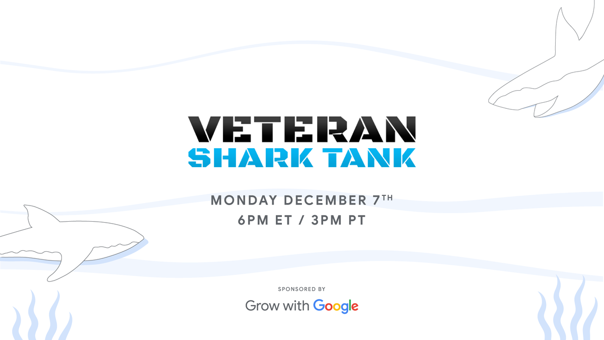 #Veterans: are you ready to dive into this year's @VetSharkTank? 🦈 Register to watch 6 vets with innovative business ideas compete to win a $50k cash prize →