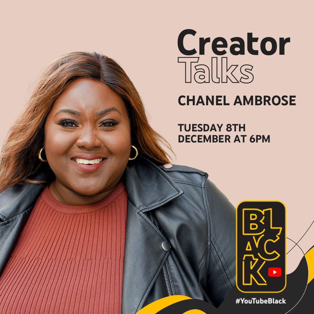 #YouTubeBlack are hosting their third Creator Talk of 2020 with the incomparable@chanelambrose , creator AND businesswoman. There's so much to learn from her and you can ask her face-to-face!   Sign up to express interest here:https://t.co/Gt6rH133Mf https://t.co/OEuXsEYDV3
