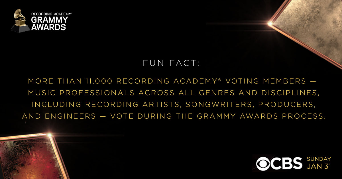 More than 11,000 #RecordingAcademy voting members vote during the #GRAMMYs process.