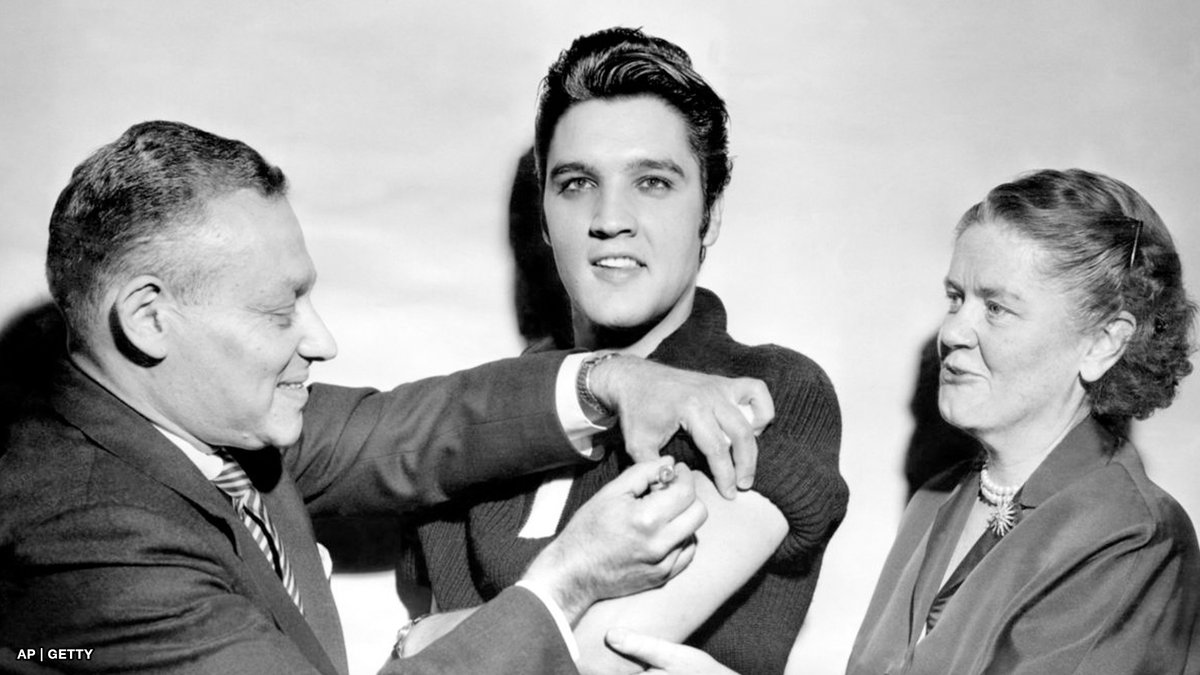 Elvis Presley got his Polio vaccine in front of the press in 1956.  By 1960, the annual incidence of polio in the US decreased by nearly 90%.