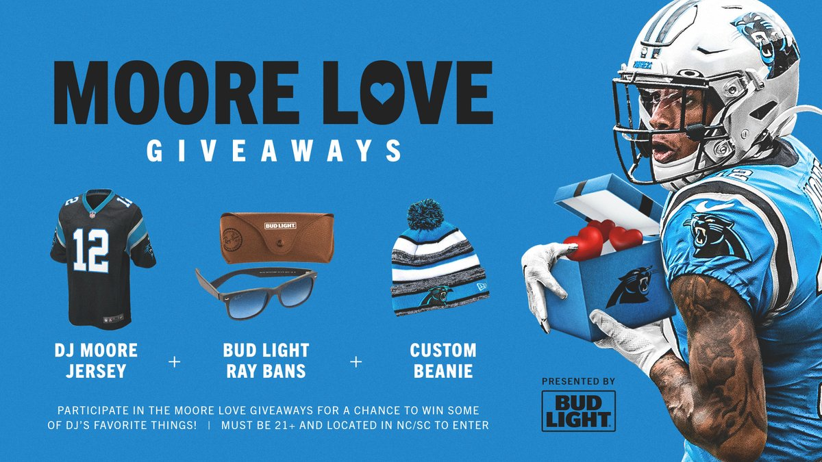 Retweet for a chance to win a few of @idjmoore's favorite things 😎  ◾️ Jersey ◾️ Ray Bans ◾️ Custom Beanie  Rules »