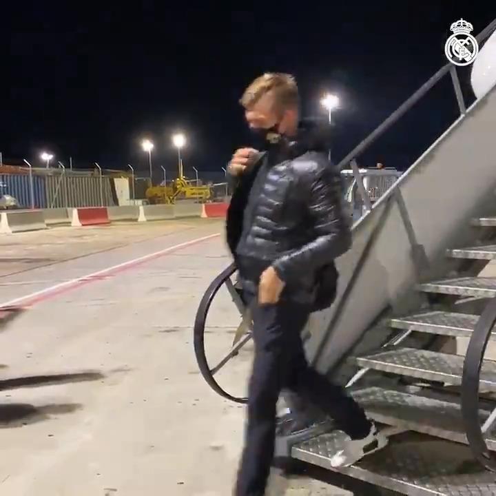 🛬👍 Touching down and ready for #SevillaFCRealMadrid! @PalladiumHG | #MVPalladium