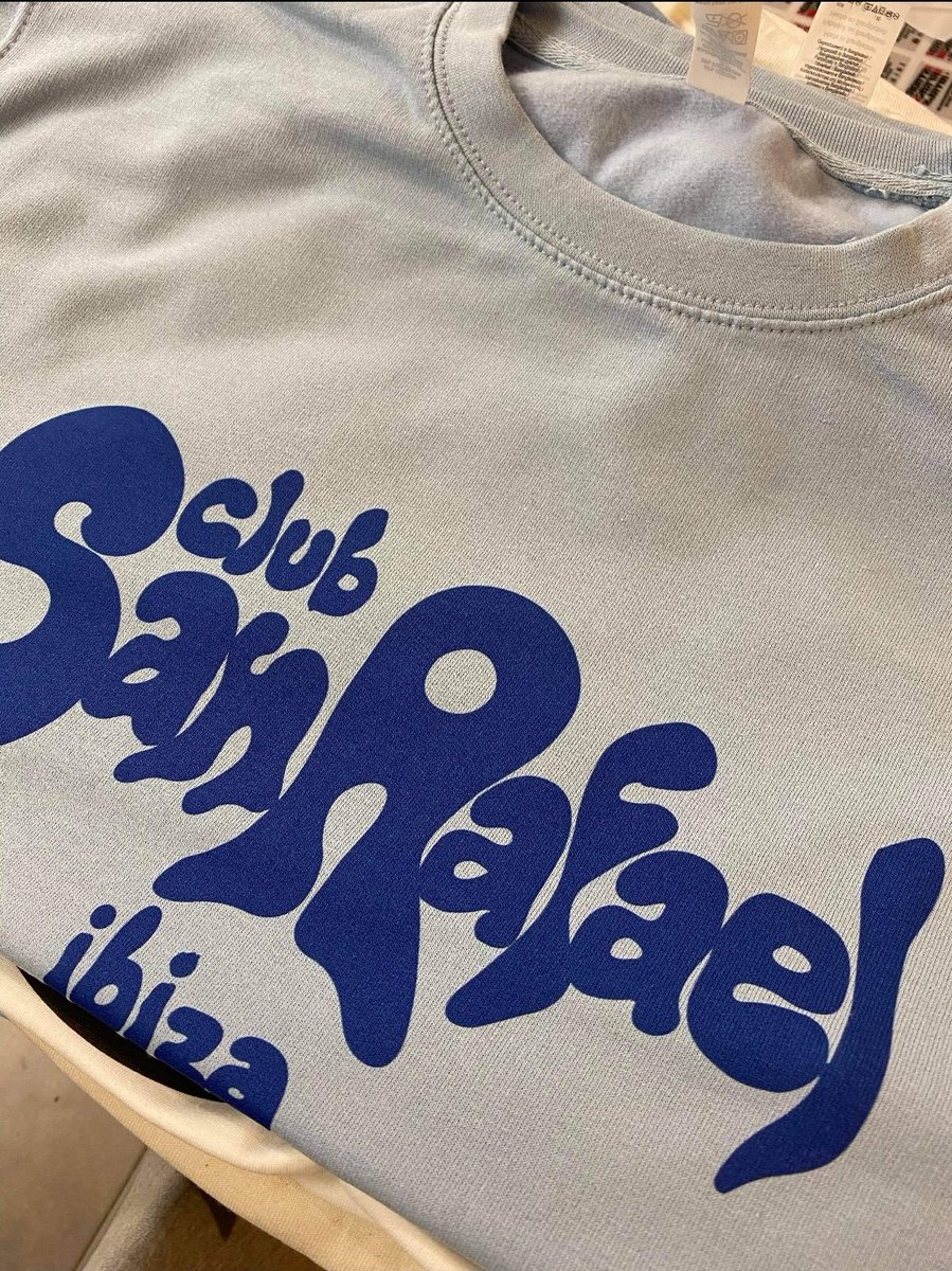 """To quote me old mucker @lukeunabomber, """"What's this?""""  Sweatshirts are on their way.  Hold tight.  Will be on the site from Monday.  #discotees #heritagediscoapparel #ibiza #balearic #disco #sweatshirts https://t.co/uGNB83HzLY"""
