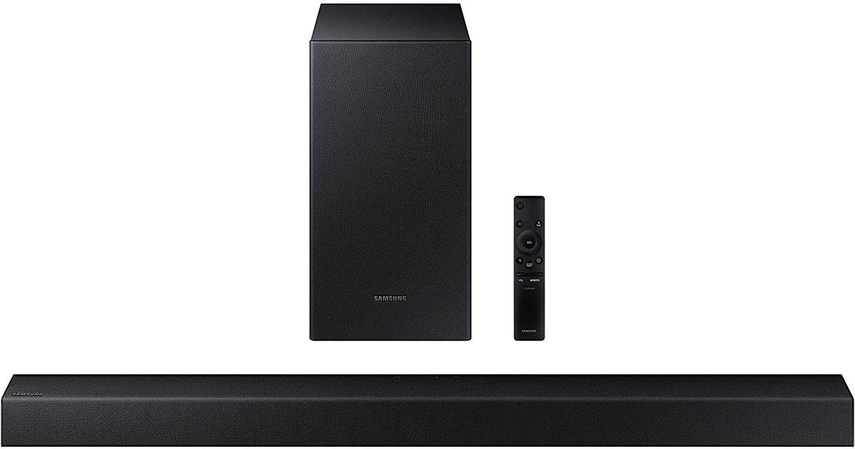 SAMSUNG HW-T450 2.1ch Soundbar with Dolby Audio (2020)   Only $147.99!