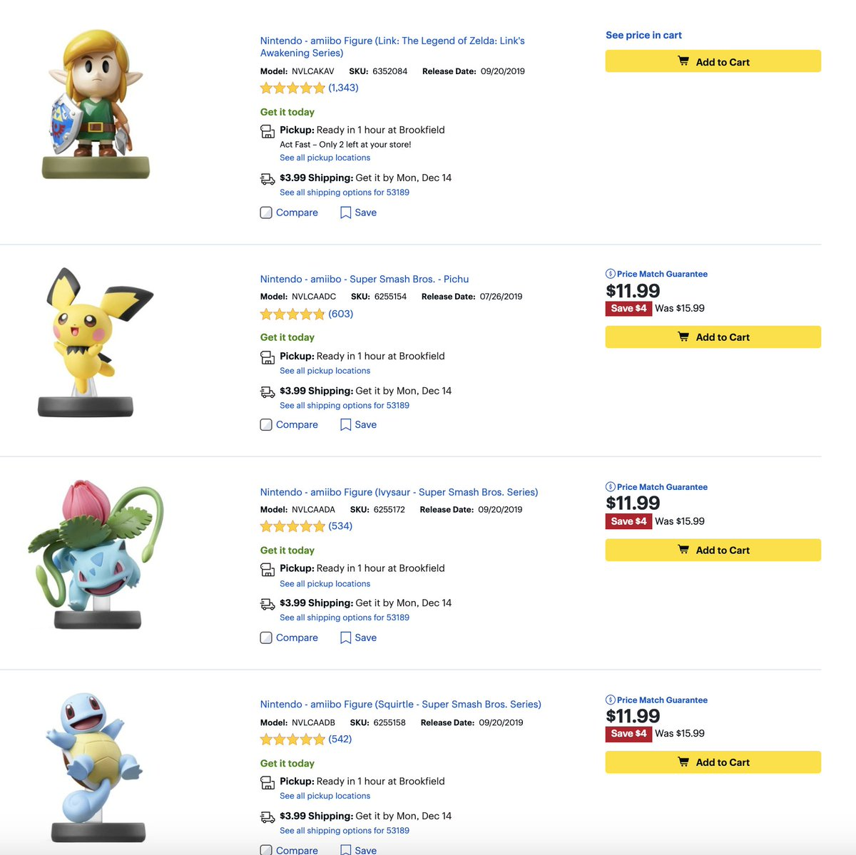 Check out the amiibo sale at Best Buy! 2