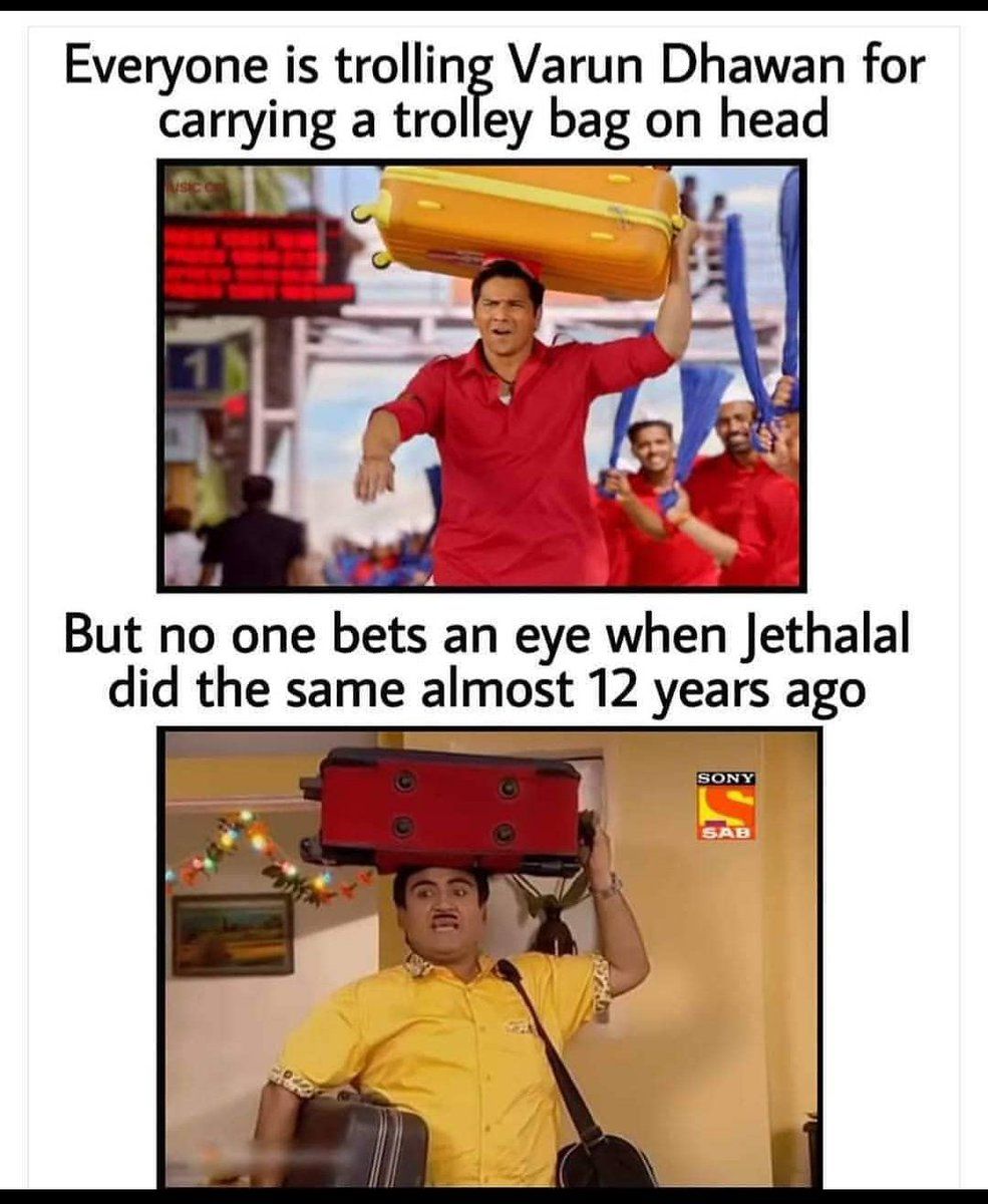 That's why acting is important,.  Jethalal is legend.  #acting #CoolieNo1  #coolieno1trailer  #VarunDhawan  #tmkoc #jethalal