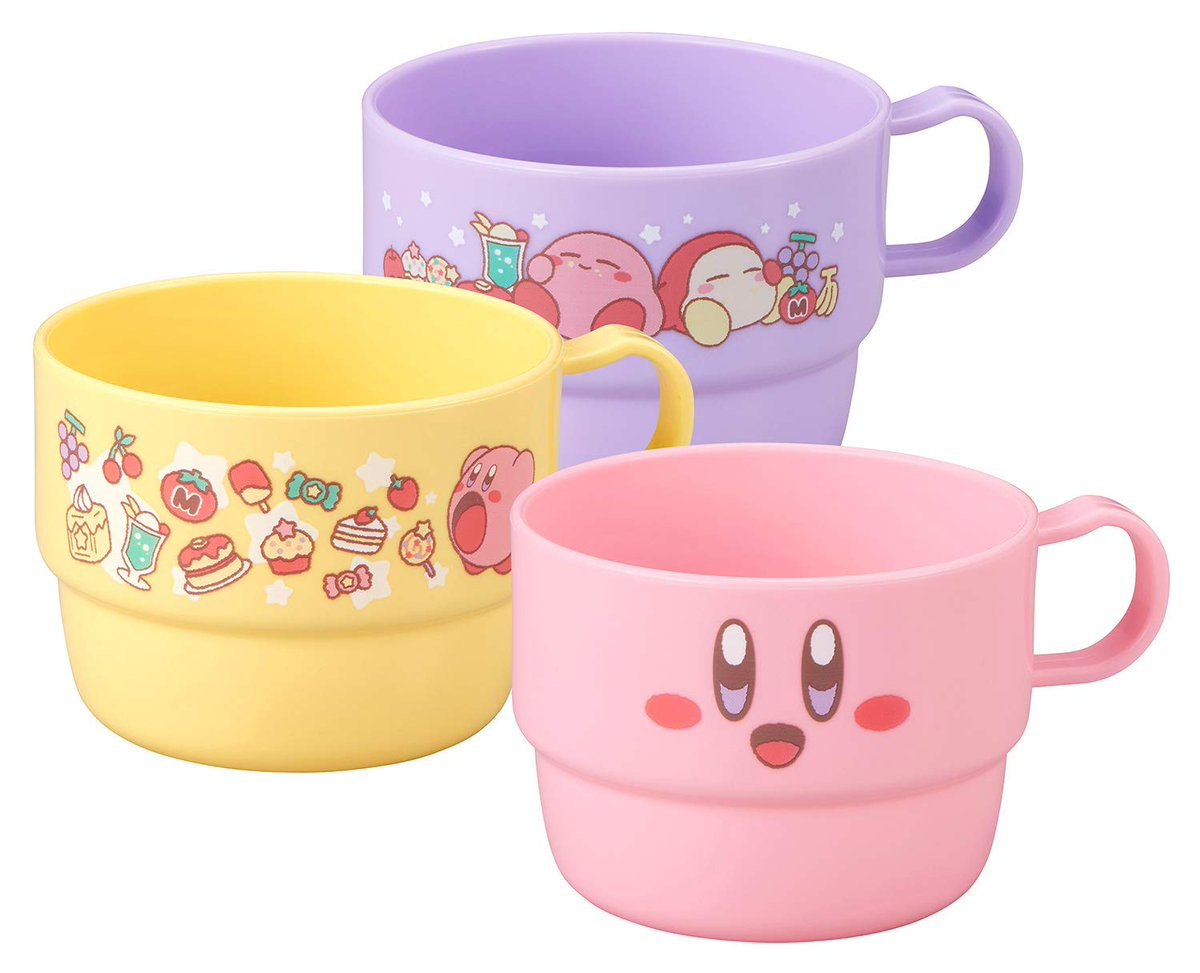 This Kirby's Dream Land 3 Stacking Cup Set is available for $15 on Amazon. Affiliate link: