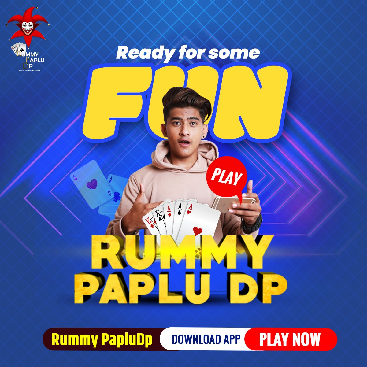 Ready for some fun😍 Play Rummy PapluDp  Download the app now from  Or reach us on   #rummy #rummypapludp #papludp #playingnow #no1runner #gaming #gamer #playandwin #winbig #fun #playbold #onlinerummy #mobilerummy