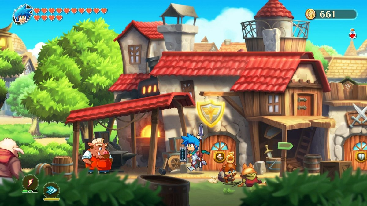 Monster Boy and the Cursed Kingdom is $11.99 on Steam