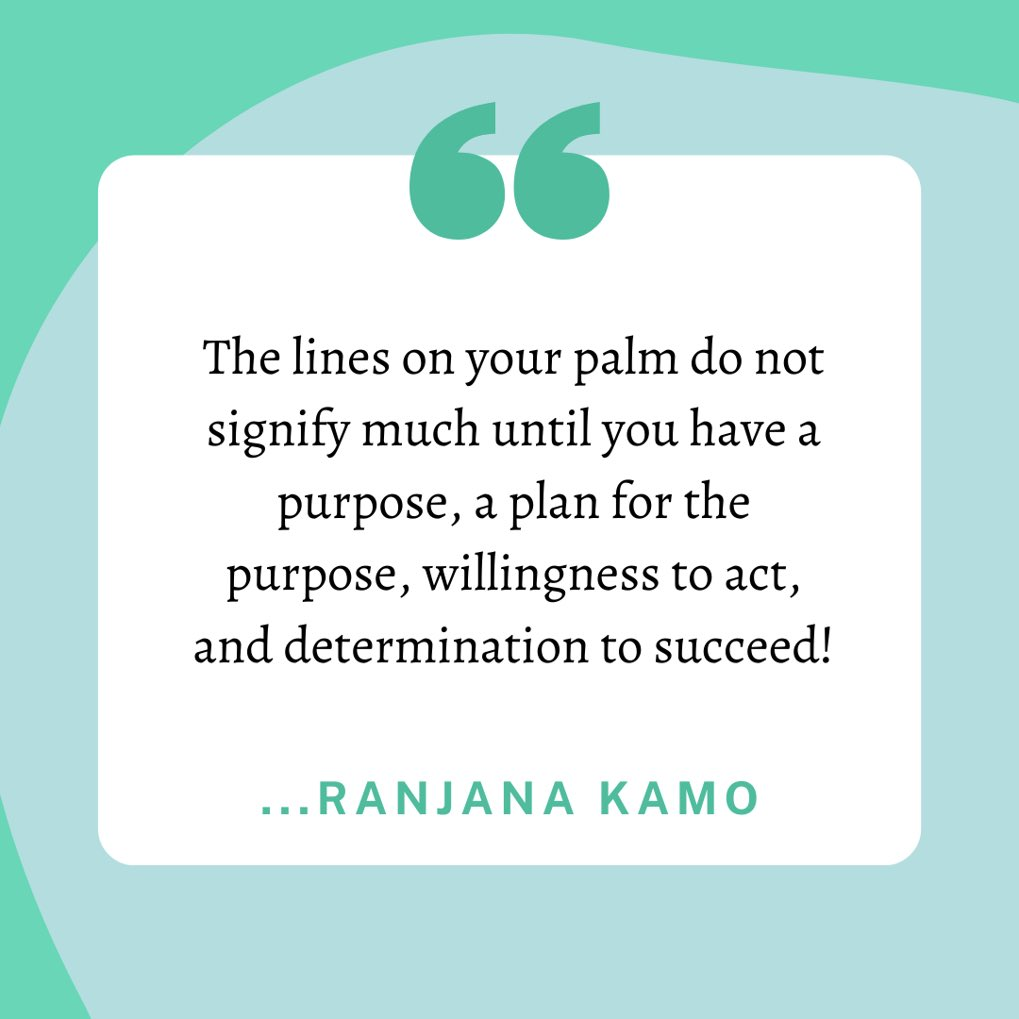 The lines on your palm do not signify much until you have a purpose, a plan for the purpose, willingness to act, and determination to succeed! #getinspired #motivation #booksbyRanjanaKamo #photooftheday #picoftheday #nature #travel #nofilter #life #beauty #amazing #photography