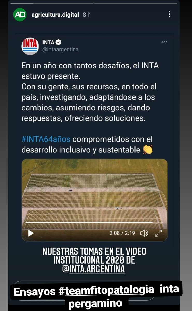 Imágenes de los experimentos del #teamfitopatologia #sanidad #trigo #cebada @IntaPergamino @INTACRBAN en el #videoinstitucional de @intaargentina  Generando info para el #sectoragropecuario #juntossiempre
