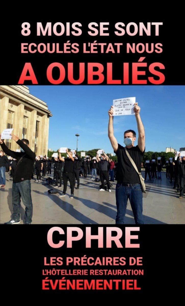 @LEVENEMENTAsso @lemondefr @le_Parisien @CoesioCongres @CREALIANS @FCongresEvents @SYNPASESYNDICAT @UNIMEV_FR @LE_RESEAU_TDF @EmmanuelMacron @Elysee et toujours pas un mot pour les #extras ! Sans nous , vos évènements sont mort et pourtant jamais de soutien de votre part ! nous nous en souviendrons !! #cphre #opre #cddu #maitredhotel #restauration #precaires