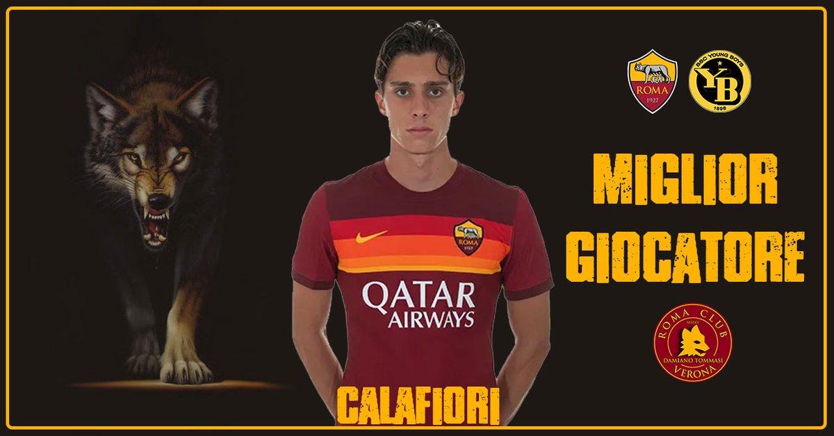 🥇 Miglior Giocatore #RomaClubVerona ⚽️ @OfficialASRoma - Young Boys 🐺 Riccardo #Calafiori #UEL #RomaYB #ASRoma #ASRCVR #ASRCVerona