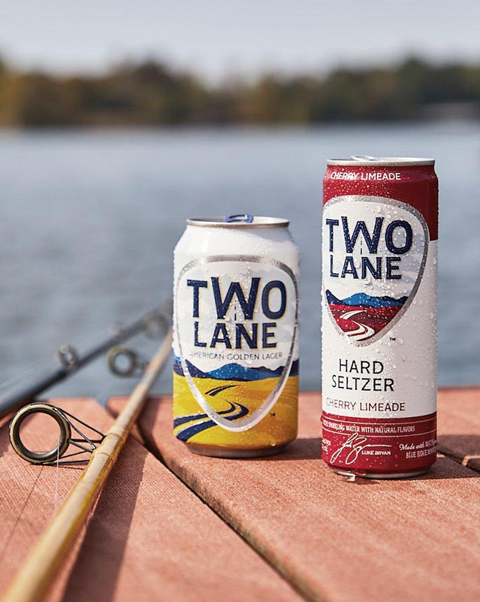 Catchin' a good time. #twolanelager #twolanehardseltzer