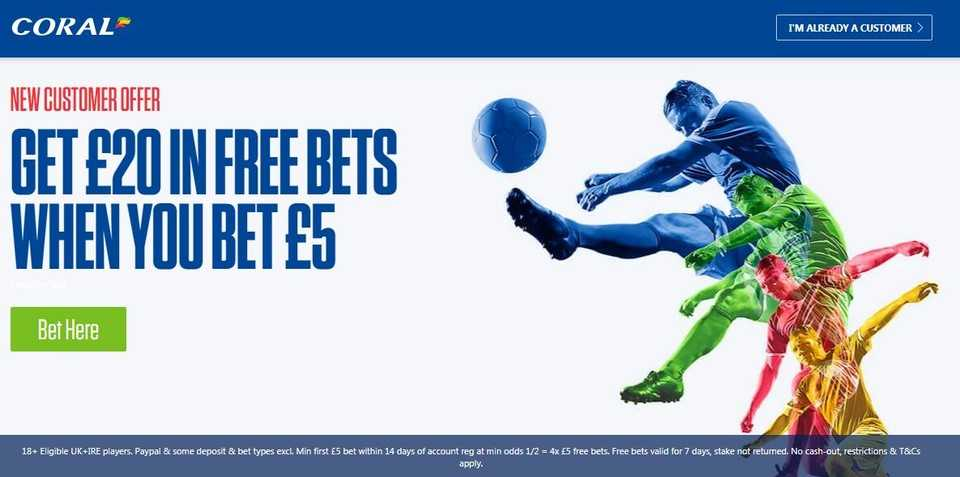 Betting with Coral one of the most familiar names on the High Street  ▫️New Customer Sign Up Offer ▫️Bet just £5 & Get £20 In Free Bets  ▪️Offer Link below 🔸  18+ T&Cs Apply Please Gamble Responsibly #PremierLeague #EPL #football #Betting #AD #PL,i