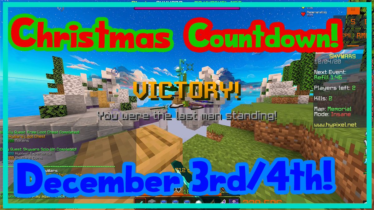 Chicken wing, chicken wing, this game is baloney  21 more videos until Christmas! #Hypixel #Minecraft #Skywars #Gaming https://t.co/brDnETkGoT https://t.co/vqfWuHzCJL