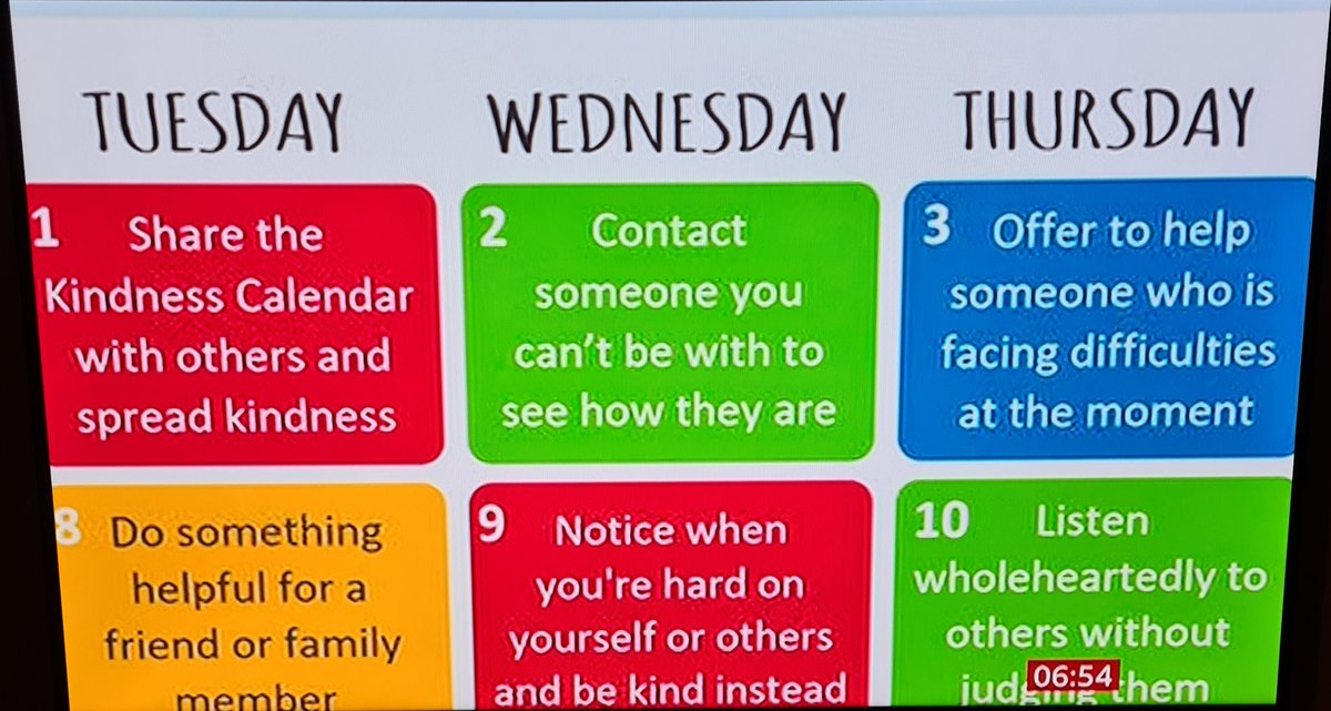 What a great idea instead of the traditional Advent calendar...the Kindness calendar. Hope it helps people cope during these difficult times. As seen on BBC Breakfast TV yesterday morning. #wellbeing #wellness #mentalhealth #MentalHealthAwareness #MentalHealthMatters https://t.co/JXZ2foWZug
