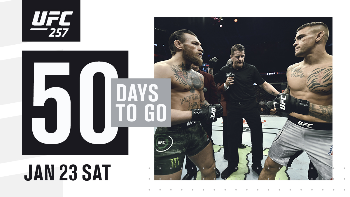 The countdown is on! #UFC257