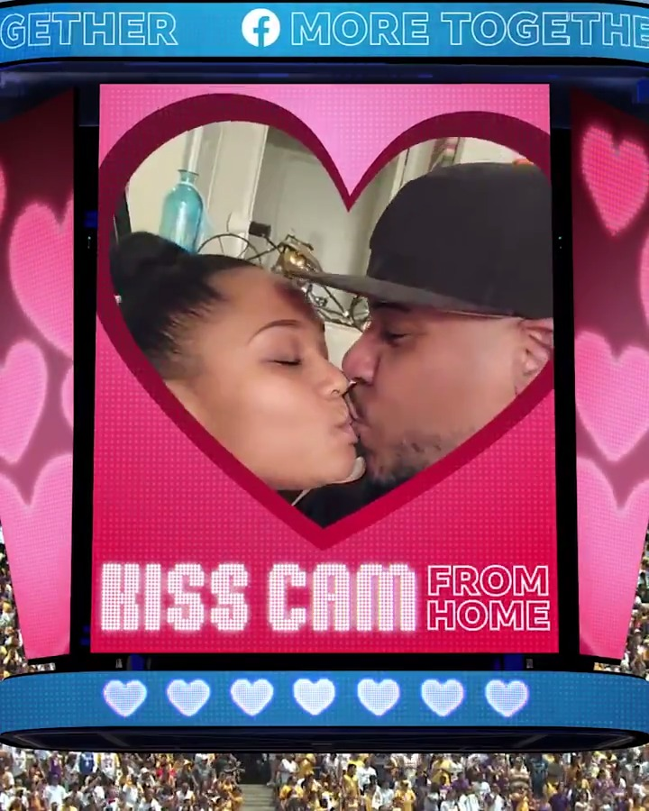 Pucker up! 😘 We may not all be in packed stadiums this season, but that's not stopping the Football Fever!!! Facebook Group from showing us their best Kiss Cam from Home. Send your photos or videos to CheerTogether@fb.com for a chance to be featured on our page. #MoreTogether