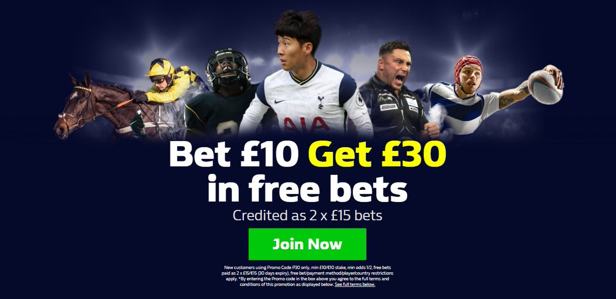WilliamHill The world's leading betting & gaming companies  ▪️New Customers Offer using Promo Code P30 ▪️Bet £10 Get £30 In free bets Credited as 2 x £15 bets ▪️Get Offer Below use code P30 🔸  18+ T&Cs Apply #EPL #PremierLeague #football #PL,o