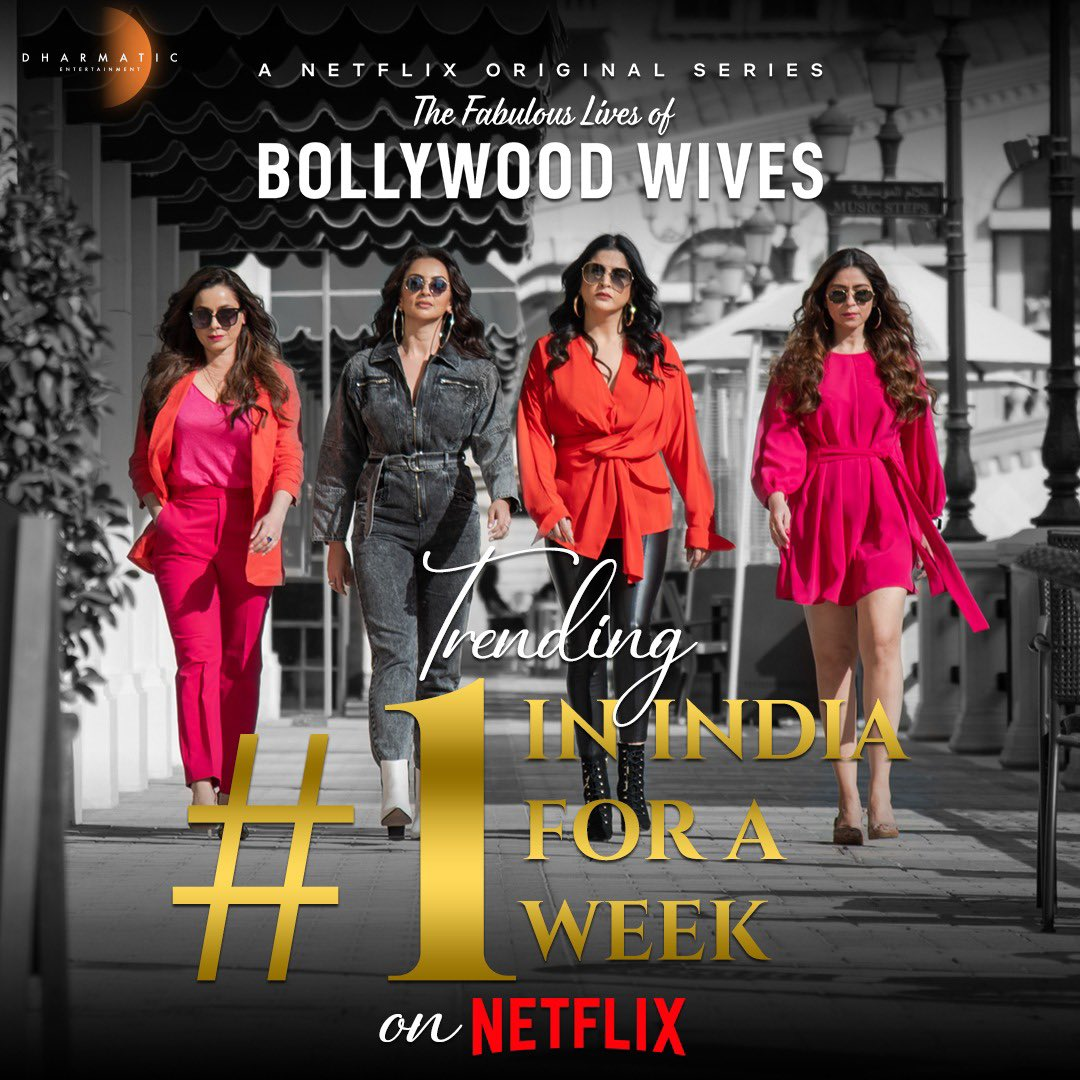 Top of the charts, top of the hearts! ❤️ The queens extend their reign by trending #1 on #Netflix for a week in India. Binge away their #FabulousLives now!