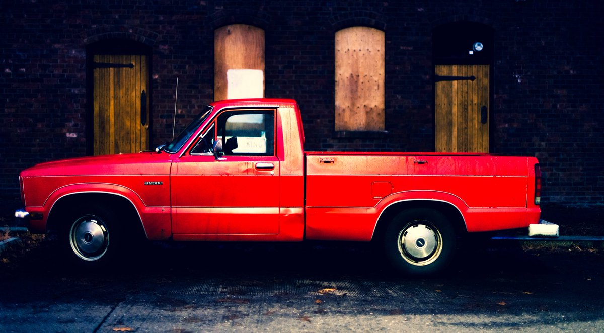 Little red pickup truck. #photo #seattle